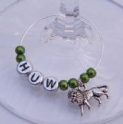 Lion Personalised Wine Glass Charm